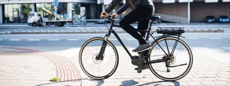 A University Student Join Class Riding Hybrid Bike